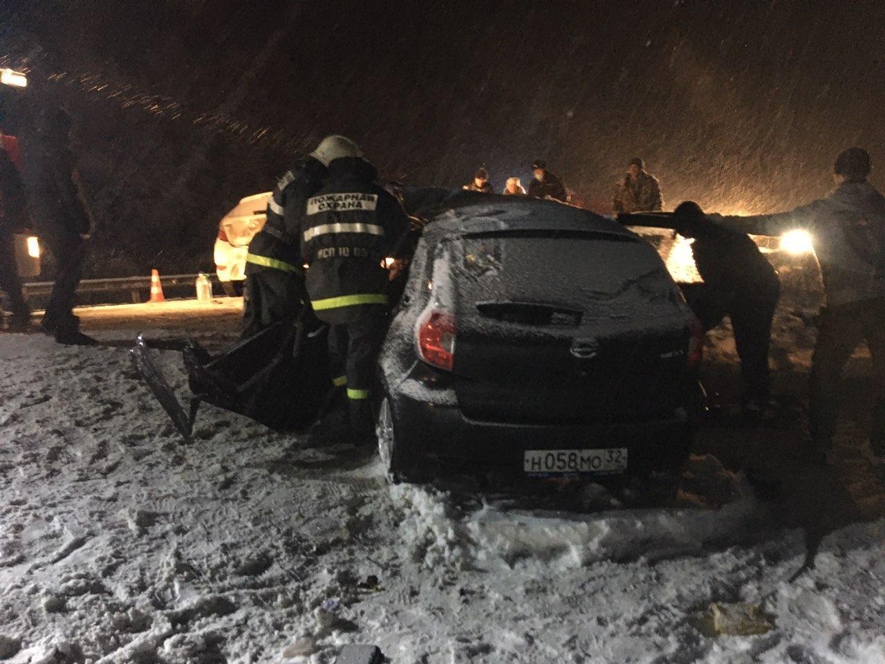 Спасатели МЧС приняли участие в ликвидации последствий ДТП в Жуковском районе