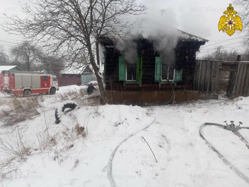 Ликвидация пожара в г.о. Клинцы