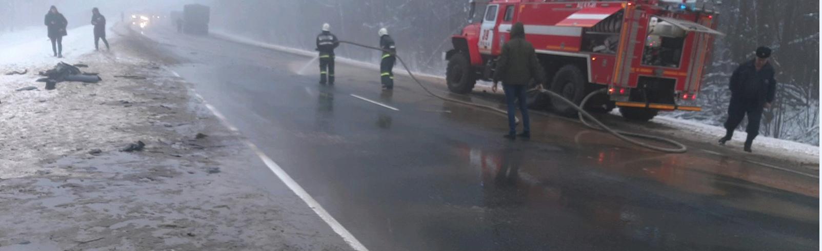 Спасатели приняли участие в ликвидации последствий ДТП в Унечском районе