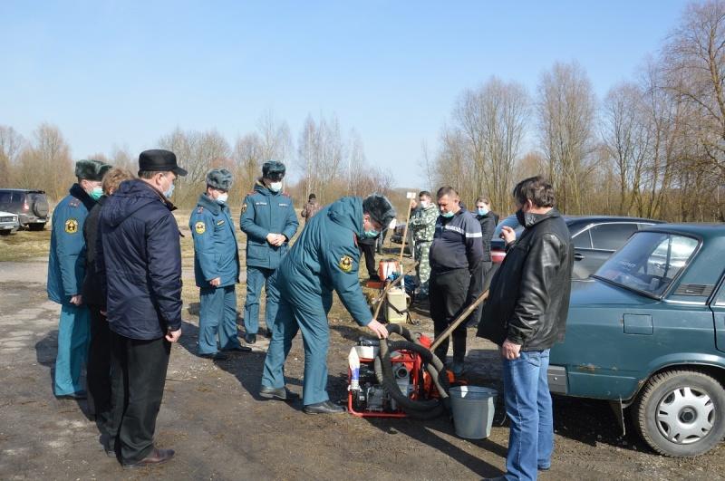 В Гордеевском  районе проведена проверка готовности сил и средств муниципального звена территориальной подсистемы РСЧС